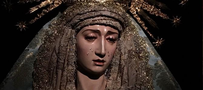 María Santísima del Desconsuelo ataviada para la Solemnidad de la Inmaculada Concepción